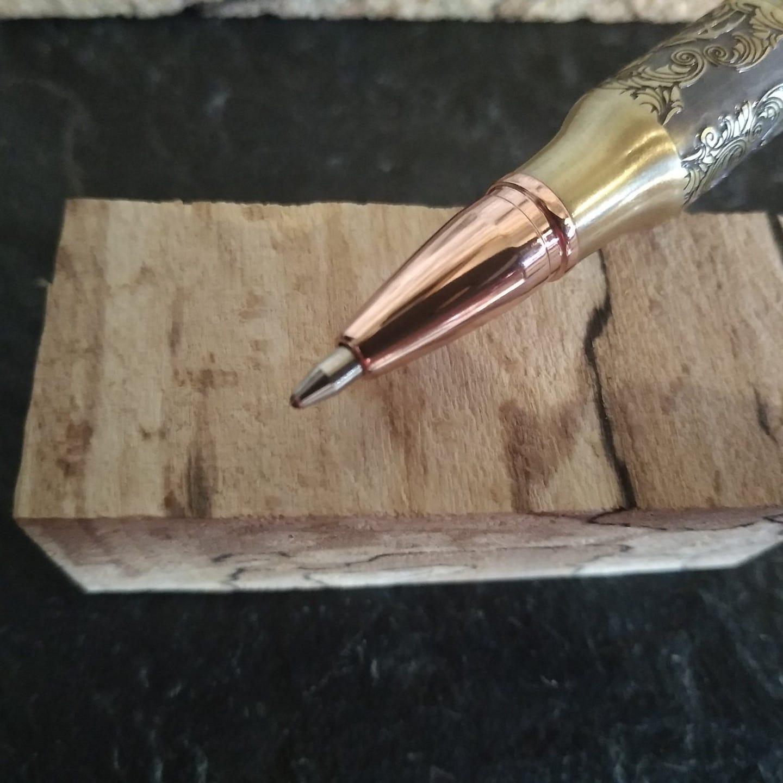 Stylo roller en bois tourné