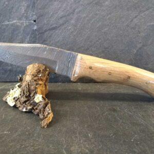 Couteau lame Damas et Châtaignier n°1